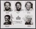 Autographs:Baseballs, 1993 Pro Football Hall of Famers Multi Signed Photograph - WithWalter Payton!...