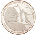 Football Collectibles:Others, 1979 Super Bowl XIII Silver Commemorative Coin....