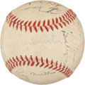 Baseball Collectibles:Balls, 1950 New York Giants Team Signed Baseball. ...