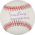 "Autographs:Baseballs, Ernie Banks Signed ""Merry Xmas"" Single Signed Baseball...."