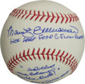 "Autographs:Baseballs, Marty Brennaman Single Signed Baseball ""HOF 2000 Ford C. FrickAward""...."