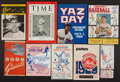 Baseball Collectibles:Programs, Baseball Vintage Programs And World Series Ticket Stub Lot Of 10. ...