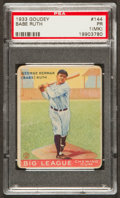 Baseball Cards:Singles (1930-1939), 1933 Goudey Babe Ruth #144 PSA Poor 1 (MK)....