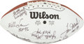 Football Collectibles:Balls, Hall of Fame Multi Signed Football....