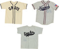 Baseball Collectibles:Uniforms, Collection of Negro League Signed Jerseys Lot of 3. ...