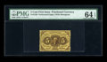 Fr. 1228 5c First Issue PMG Choice Uncirculated 64 EPQ