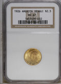 Commemorative Gold: , 1926 $2 1/2 Sesquicentennial MS67 NGC. NGC Census: (3/0). Mintage:46,019. Numismedia Wsl. Price: $5...