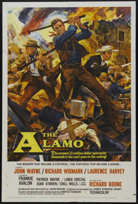"The Alamo (United Artists, 1960). One Sheet (27"" X 41""). John Wayne stars and directs Richard Widmark, Laurenc..."