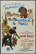 "Movie Posters:Academy Award Winner, An American in Paris (MGM, 1951). One Sheet (27"" X 41""). Musical.Starring Gene Kelly, Leslie Caron, Oscar Levant, Georges G..."