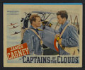 "Movie Posters:War, Captains of the Clouds (Warner Brothers, 1942). Lobby Card (11"" X14""). War. Starring James Cagney, Dennis Morgan, Brenda Ma..."