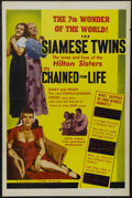 "Movie Posters:Cult Classic, Chained For Life (Classic Pictures, 1951). One Sheet (27"" X 41"").Drama. Starring Allen Jenkins, Mario Leval, Violet Hilton ..."