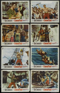 "Movie Posters:Adventure, The Crimson Pirate (Warner Brothers, 1952). Lobby Card Set of 8(11"" X 14""). Adventure. Starring Burt Lancaster, Eva Bartok ...(Total: 8 Items)"