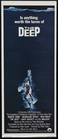 "Movie Posters:Adventure, The Deep (Columbia, 1977). Insert (14"" X 36""). Adventure Thriller.Starring Robert Shaw, Jacqueline Bisset, Nick Nolte, Loui..."