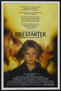 "Firestarter (Universal, 1984). One Sheet (27"" X 41""). Horror. Starring David Keith, Drew Barrymore, Freddie Jo..."