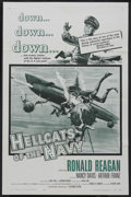 "Movie Posters:War, Hellcats of the Navy (Columbia, 1957). One Sheet (27"" X 41""). War. Ronald Reagan and Nancy Davis star in the only film where..."