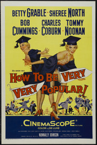 """How to Be Very, Very Popular (20th Century Fox, 1955). One Sheet (27"""" X 41""""). Betty Grable's last film has her..."""