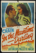 "In the Meantime, Darling (20th Century Fox, 1944). One Sheet (27"" X 41""). Comedy. Starring Jeanne Crain, Frank..."
