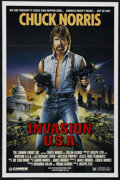 "Movie Posters:Action, Invasion U.S.A. (Cannon, 1985). One Sheet (27"" X 41""). Action. Starring Chuck Norris, Richard Lynch, Melissa Prophet and Ale..."
