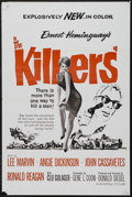 "Movie Posters:Crime, The Killers (Universal, R-1960s). One Sheet (27"" X 41""). Crime. Starring Lee Marvin, Angie Dickinson, John Cassavetes and Ro..."