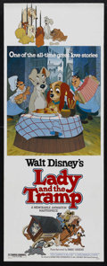 """Movie Posters:Animated, Lady and the Tramp (Disney, R-1980). Insert (14"""" X 36""""). Animated Musical. Starring the voices of Peggy Lee, Barbara Luddy, ..."""