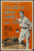 "Movie Posters:Adventure, The Lives of a Bengal Lancer (Paramount, R-1958). One Sheet (27"" X41""). Adventure. Starring Gary Cooper, Franchot Tone, Ric..."