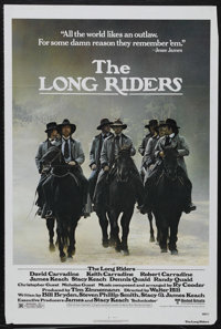 "The Long Riders (United Artists, 1980). One Sheet (27"" X 41""). Historical Drama. Starring David Carradine, Kei..."