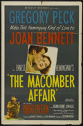 "Movie Posters:Drama, The Macomber Affair (United Artists, 1947). One Sheet (27"" X 41""). Adventure. Starring Gregory Peck, Joan Bennett, Robert Pr..."