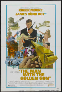 "The Man With the Golden Gun (United Artists, 1974). One Sheet (27"" X 41""). Spy Thriller. Roger Moore inherited..."