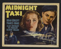"""Movie Posters:Crime, Midnight Taxi (20th Century Fox, 1937). Title Lobby Card (11"""" X14""""). Crime. Starring Brian Donlevy, Frances Drake, Alan Din..."""