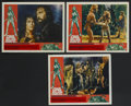 "Movie Posters:Adventure, One Million Years B.C. (20th Century Fox, 1966). Lobby Cards (3)(11"" X 14""). Fantasy Adventure. Starring Raquel Welch, John...(Total: 3 Items)"