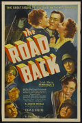 "Movie Posters:War, The Road Back (Universal, 1939). One Sheet (27"" X 41""). ""All Quiet on the Western Front"" had not only been a blockbuster for..."