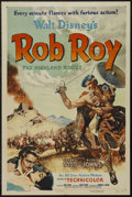 "Movie Posters:Adventure, Rob Roy, the Highland Rogue (RKO, 1954). One Sheet (27"" X 41"")Style A. Action. Starring Richard Todd, Glynis Johns, James L..."