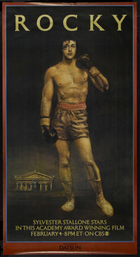 """Rocky (United Artists, 1977). Television Premier Poster (32.5"""" X 60.5""""). Drama. Starring Sylvester Stallone, T..."""