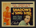 """Movie Posters:Drama, Shadows of Sing Sing (Columbia, 1933). Title Lobby Card (11"""" X 14""""). Drama. Starring Mary Brian, Bruce Cabot, Grant Mitchell..."""