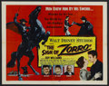 "Movie Posters:Adventure, The Sign of Zorro (Buena Vista, 1960). Half Sheet (22"" X 28"").Adventure. Starring Guy Williams, Henry Calvin, Gene Sheldon ..."