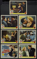 """Movie Posters:Romance, Slightly Dangerous (MGM, 1943). Title Lobby Card (11"""" X 14"""") and Lobby Cards (6) (11"""" X 14""""). Romantic Comedy. Starring Lana... (Total: 7 Items)"""