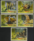 "Movie Posters:Adventure, Tarzan and the Valley of Gold (American International, 1966). LobbyCards (5) (11"" X 14""). Adventure. Starring Mike Henry, N... (Total:5 Items)"