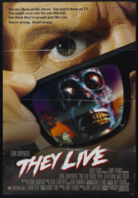 """They Live (MCA/Universal, 1988). One Sheet (27"""" X 41"""") Double Sided. Starring Roddy Piper, Keith David, Meg Fo..."""