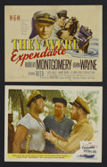 "Movie Posters:War, They Were Expendable (MGM, 1945). Title Lobby Card (11"" X 14"") andLobby Card (11"" X 14""). War. Starring Robert Montgomery, ...(Total: 2 Items)"