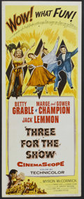 "Movie Posters:Musical, Three for the Show (Columbia, 1954). Insert (14"" X 36""). Musical.Starring Betty Grable, Marge Champion, Gower Champion and ..."