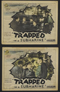 "Movie Posters:Adventure, Trapped in a Submarine (British International Pictures, 1932).Lobby Cards (2) (11"" X 14""). Adventure. Starring John Batten,...(Total: 2 Items)"