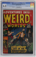 "Golden Age (1938-1955):Horror, Adventures Into Weird Worlds #12 Davis Crippen (""D"" Copy) pedigree(Atlas, 1952) CGC FN+ 6.5 Cream to off-white pages. Bill ..."