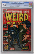 "Golden Age (1938-1955):Horror, Adventures Into Weird Worlds #19 Davis Crippen (""D"" Copy) pedigree(Atlas, 1953) CGC VF- 7.5 Off-white to white pages. Skull..."
