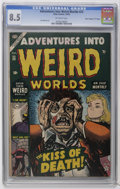 "Golden Age (1938-1955):Horror, Adventures Into Weird Worlds #23 Davis Crippen (""D"" Copy) pedigree(Atlas, 1953) CGC VF+ 8.5 Off-white pages. Overstreet 200..."