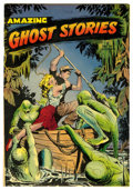 Golden Age (1938-1955):Horror, Amazing Ghost Stories #14 Mile High pedigree (St. John, 1954)Condition: VF-. The creatures on this Matt Baker cover look am...