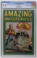 "Golden Age (1938-1955):Horror, Amazing Mysteries #33 Davis Crippen (""D"" Copy) pedigree (Marvel,1949) CGC VF 8.0 Off-white pages. Format switches to horror..."