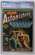 "Golden Age (1938-1955):Horror, Astonishing #12 Davis Crippen (""D"" Copy) pedigree (Atlas, 1952) CGCVF- 7.5 Off-white to white pages. Gene Colan and Bill Ev..."