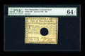 Colonial Notes:New Hampshire, New Hampshire April 29, 1780 $20 PMG Choice Uncirculated 64 EPQHOC....