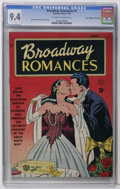 """Golden Age (1938-1955):Romance, Broadway Romances #1 Davis Crippen (""""D"""" Copy) pedigree (Quality, 1950) CGC NM 9.4 Off-white to white pages. Bill Ward and Pa..."""