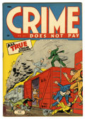 Golden Age (1938-1955):Crime, Crime Does Not Pay #37 Mile High pedigree (Lev Gleason, 1945) Condition: VF/NM. Charles Biro cover. Overstreet 2006 VF/NM 9....
